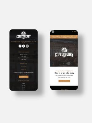 Coffeeberry Website Mockup