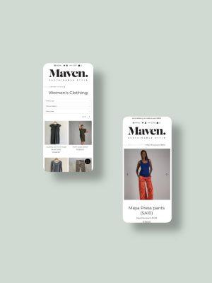 Maven Shopify Mobile View